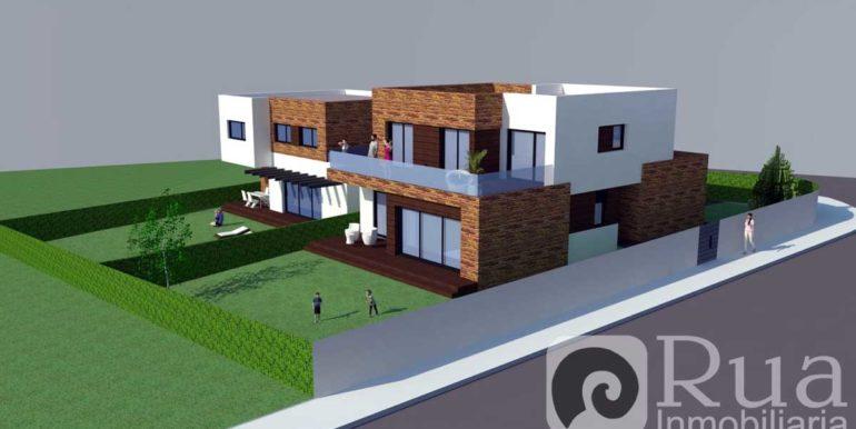 Chalets a estrenar en Guisamo, fincas 500 m2, 4 habitaciones, 3 baños
