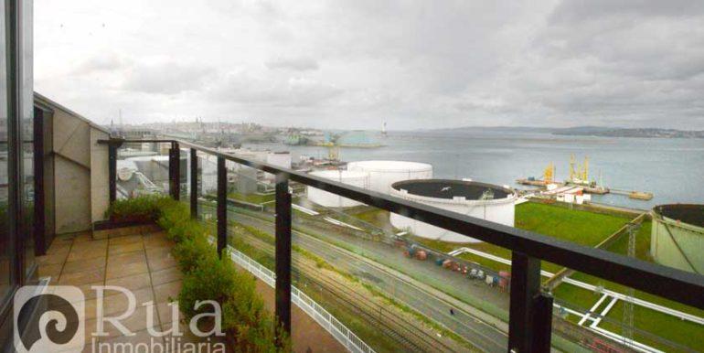 piso alquiler Coruña, amueblado, 2 habitciones, garaje, terraza
