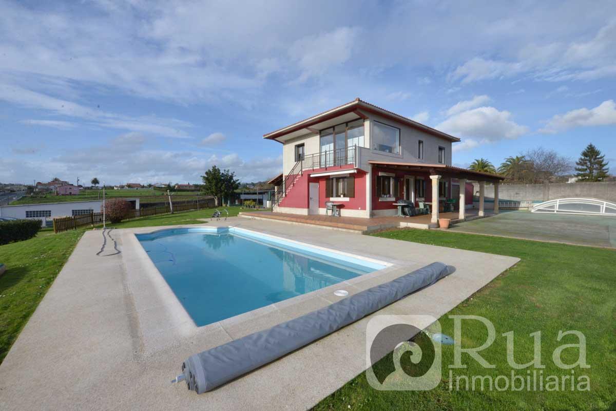 CHALET VENTA BERGONDO, PISCINA, FINCA 3000 m2, 4 HABITACIONES, 2 PLANTAS INDEPENDIENTES